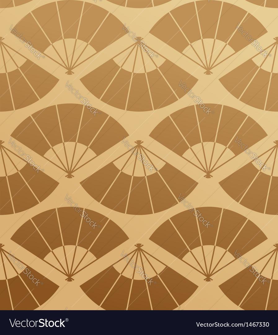 Elegant japan fan seamless pattern vector | Price: 1 Credit (USD $1)