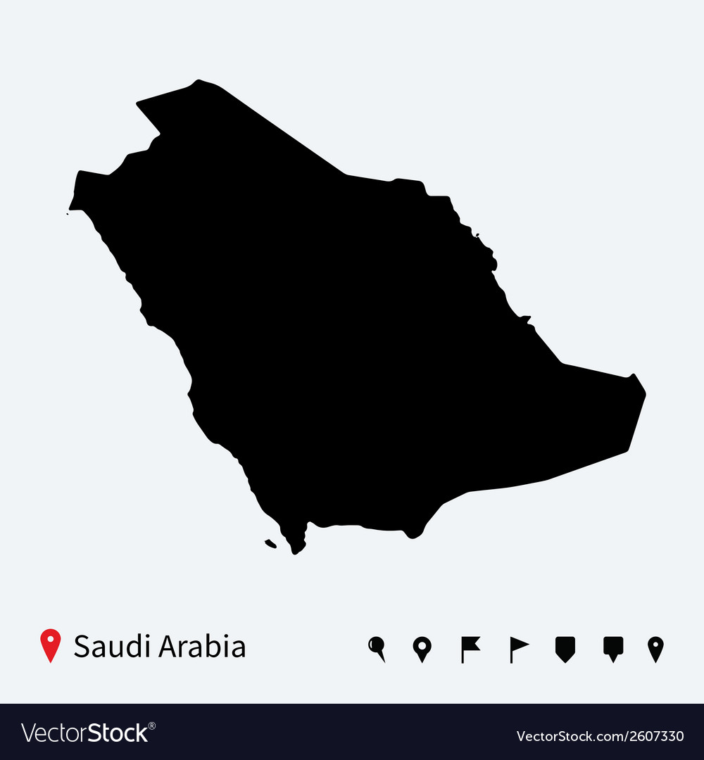 High detailed map of saudi arabia with navigation vector   Price: 1 Credit (USD $1)