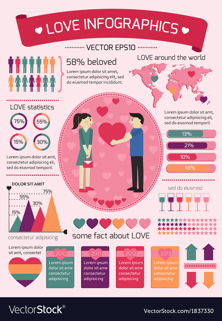 Love infographics elements vector   Price: 1 Credit (USD $1)