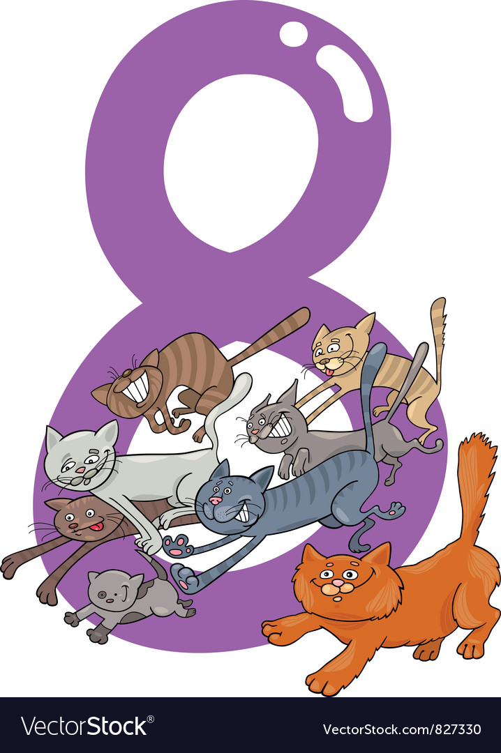 Number eight vector | Price: 3 Credit (USD $3)
