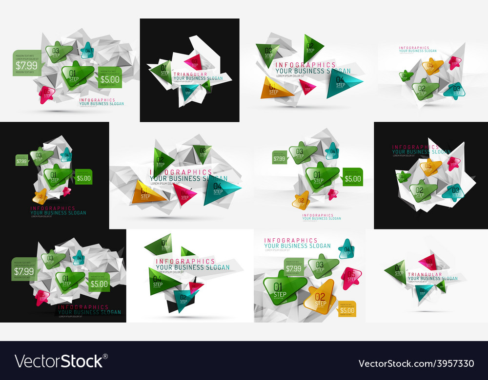 Set of fresh business abstract infographic vector | Price: 1 Credit (USD $1)