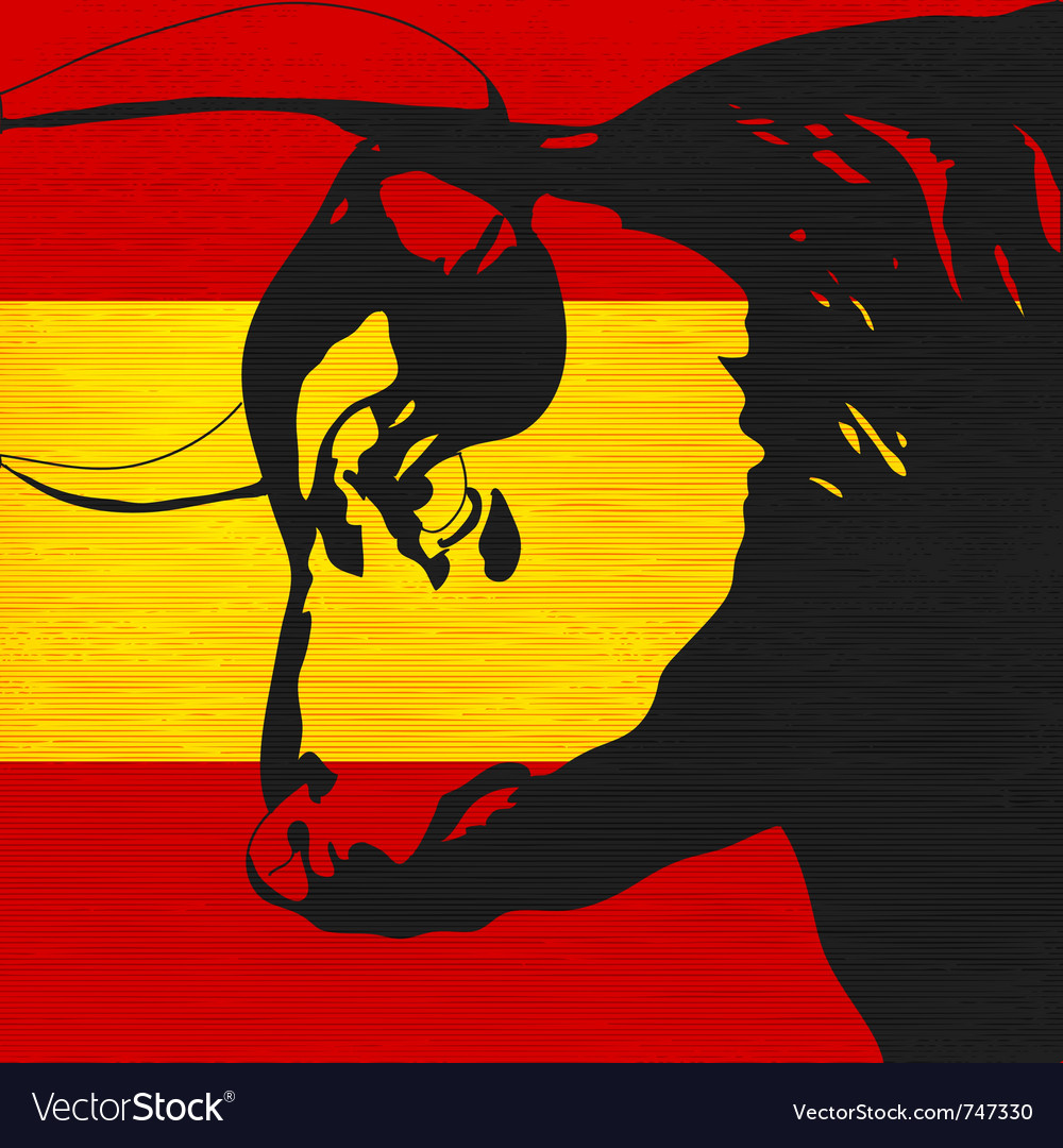 Spanish bull vector | Price: 1 Credit (USD $1)