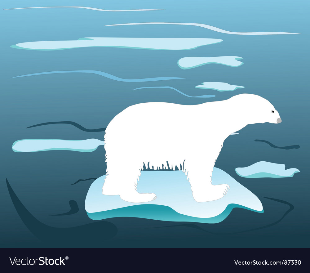 Warm times for polar bears vector | Price: 1 Credit (USD $1)