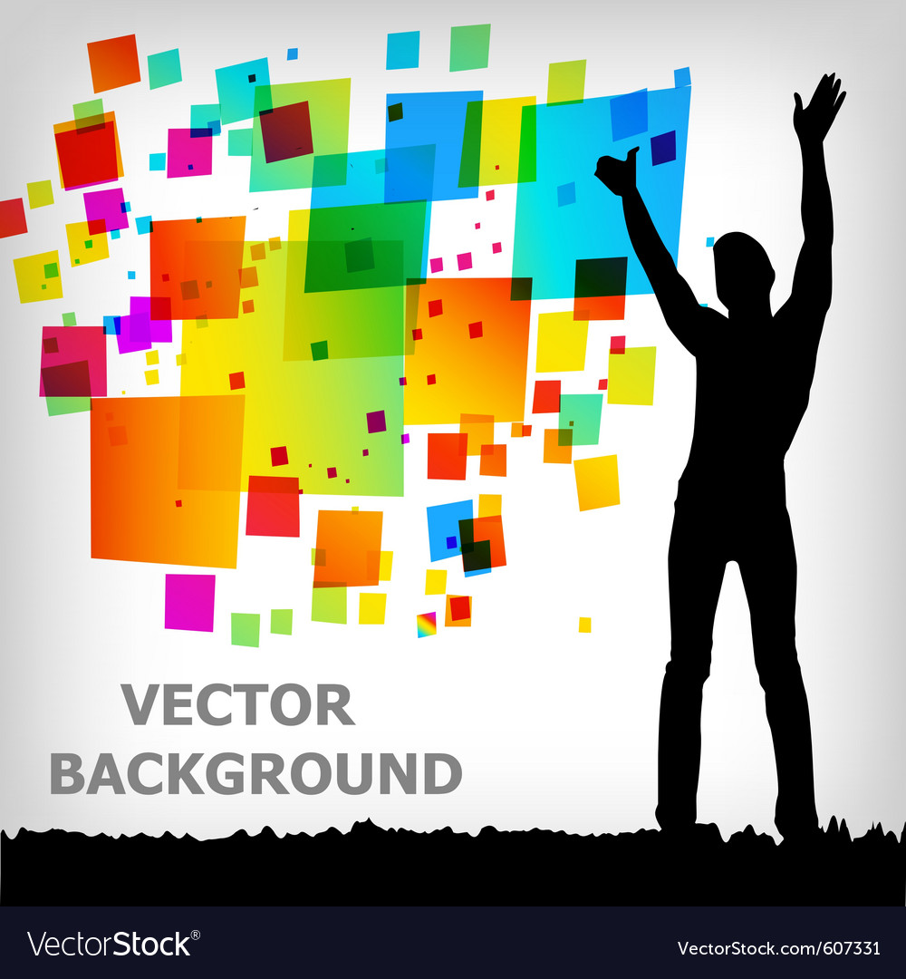Abstract square colorful background vector | Price: 1 Credit (USD $1)