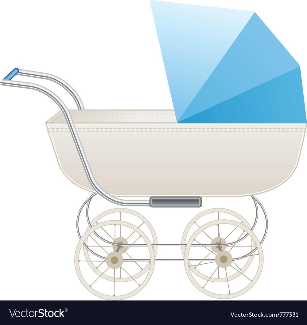 Baby stroller vector | Price: 1 Credit (USD $1)