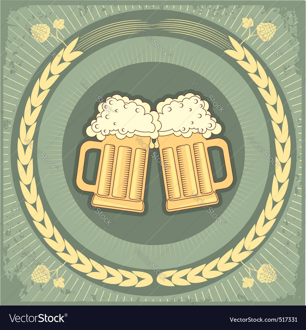 Beer jug vector | Price: 1 Credit (USD $1)