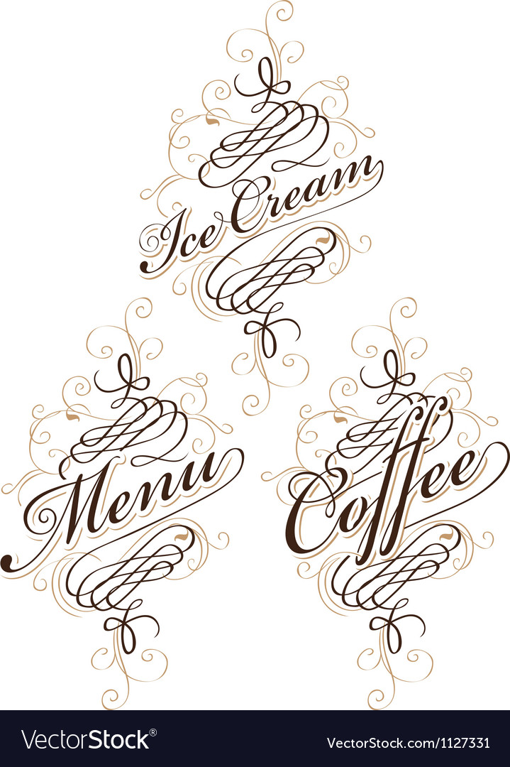 Calligraphy food vector | Price: 1 Credit (USD $1)