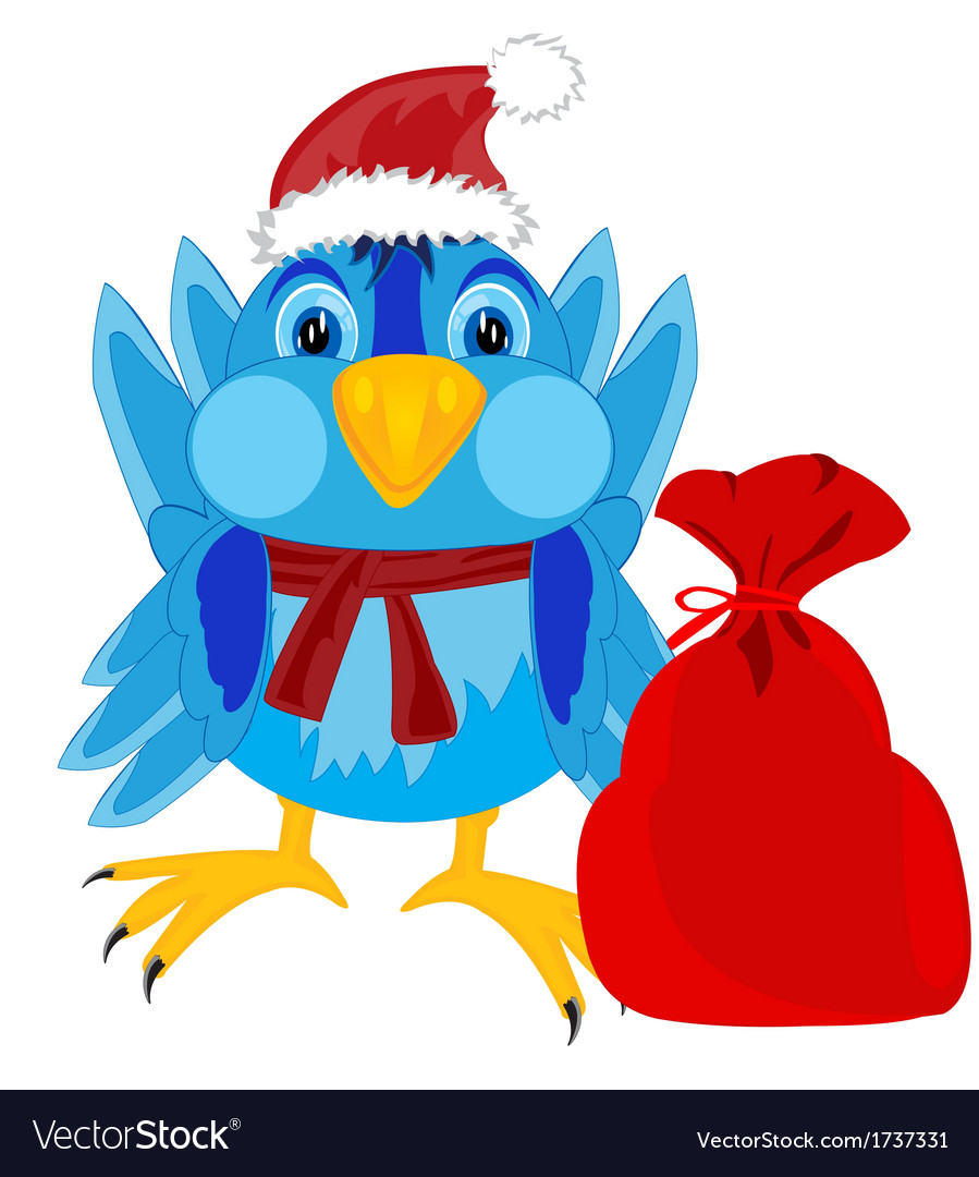 Festive sparrow vector | Price: 1 Credit (USD $1)