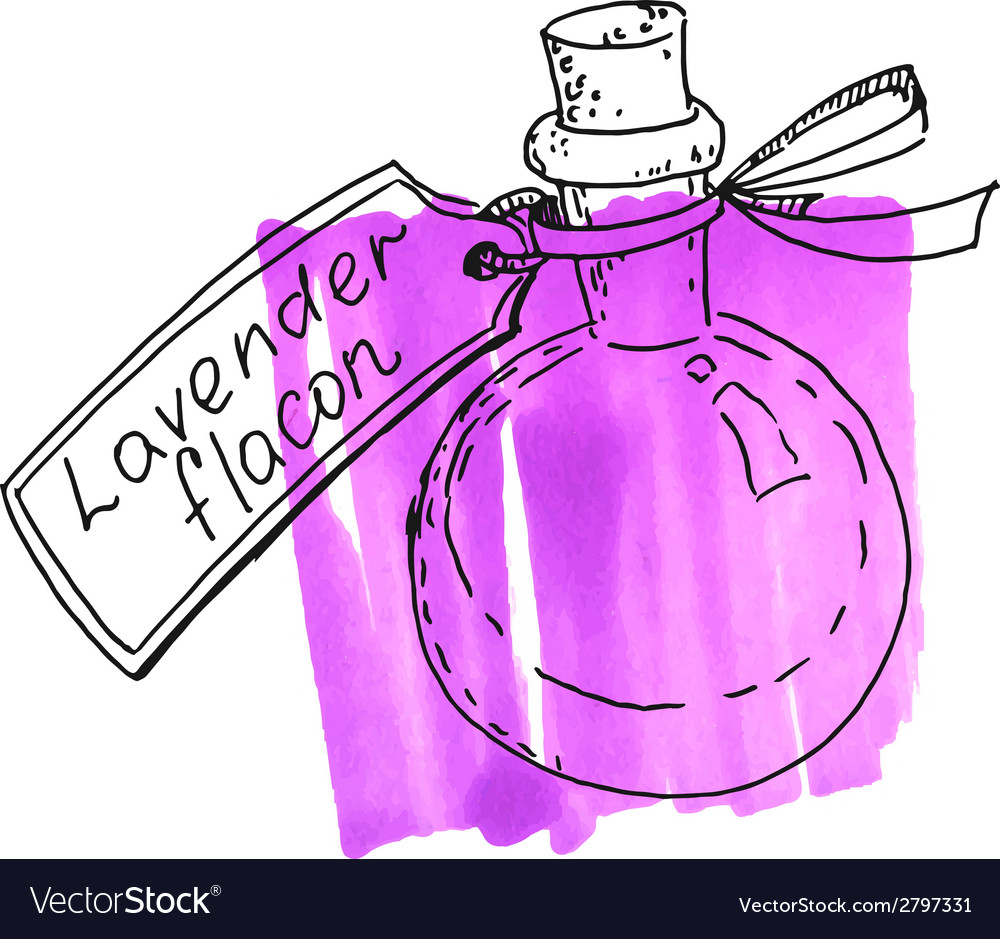 Flask with lavender essence vector | Price: 1 Credit (USD $1)