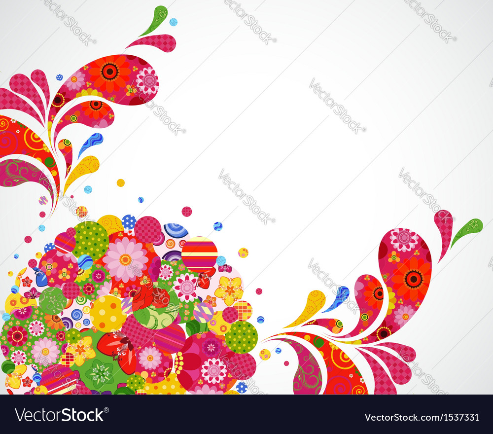 Floral ornamental background card vector | Price: 1 Credit (USD $1)