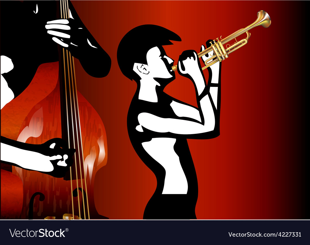 Musicians black and white vector | Price: 1 Credit (USD $1)