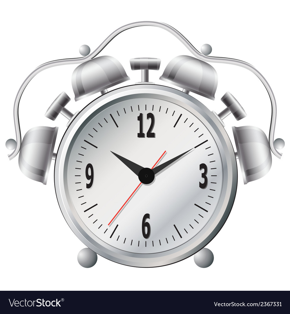 Old mechanical alarm clock vector | Price: 1 Credit (USD $1)