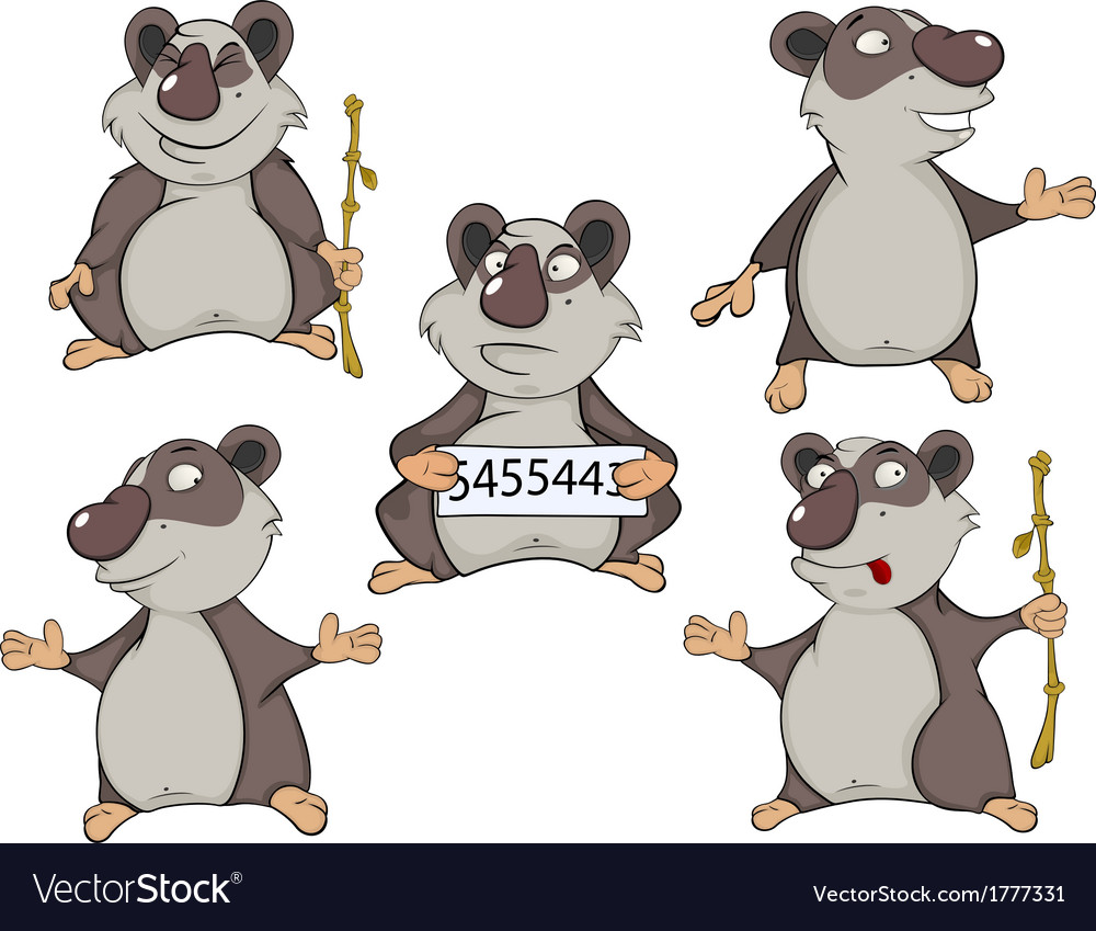 Panda clip art cartoon vector | Price: 1 Credit (USD $1)