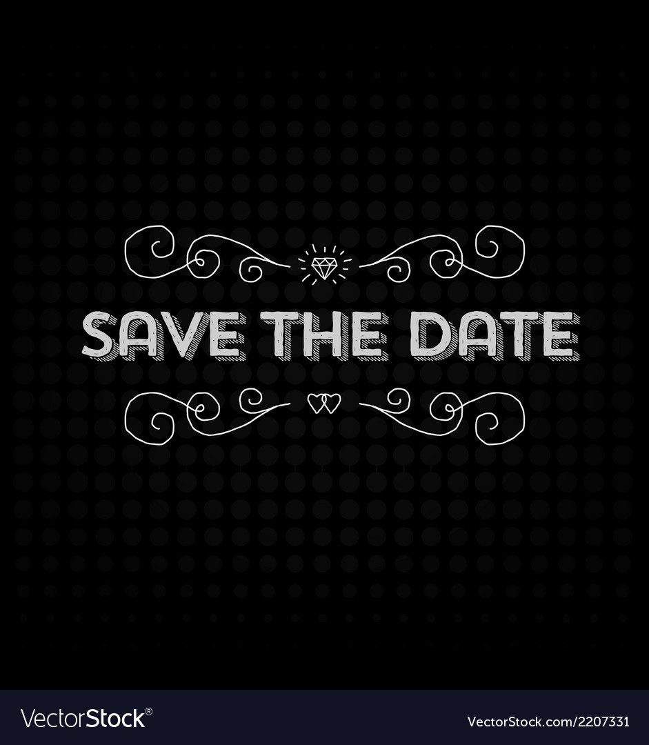 Save the date invitation header vector   Price: 1 Credit (USD $1)