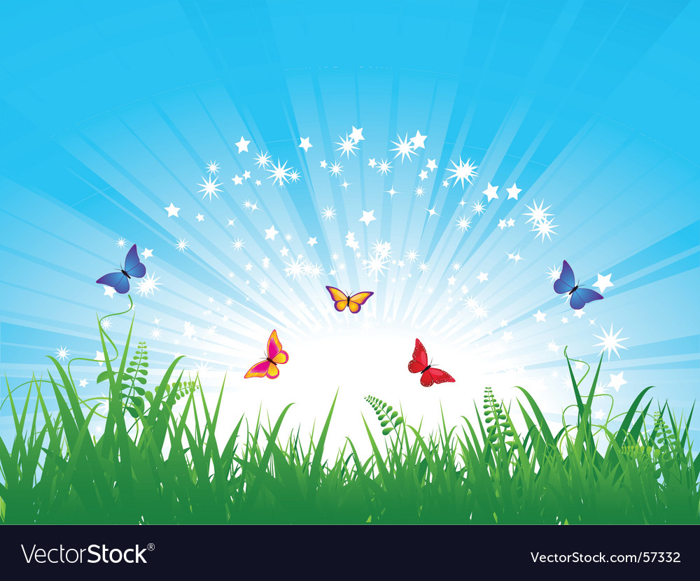 Butterfly landscape vector | Price: 3 Credit (USD $3)