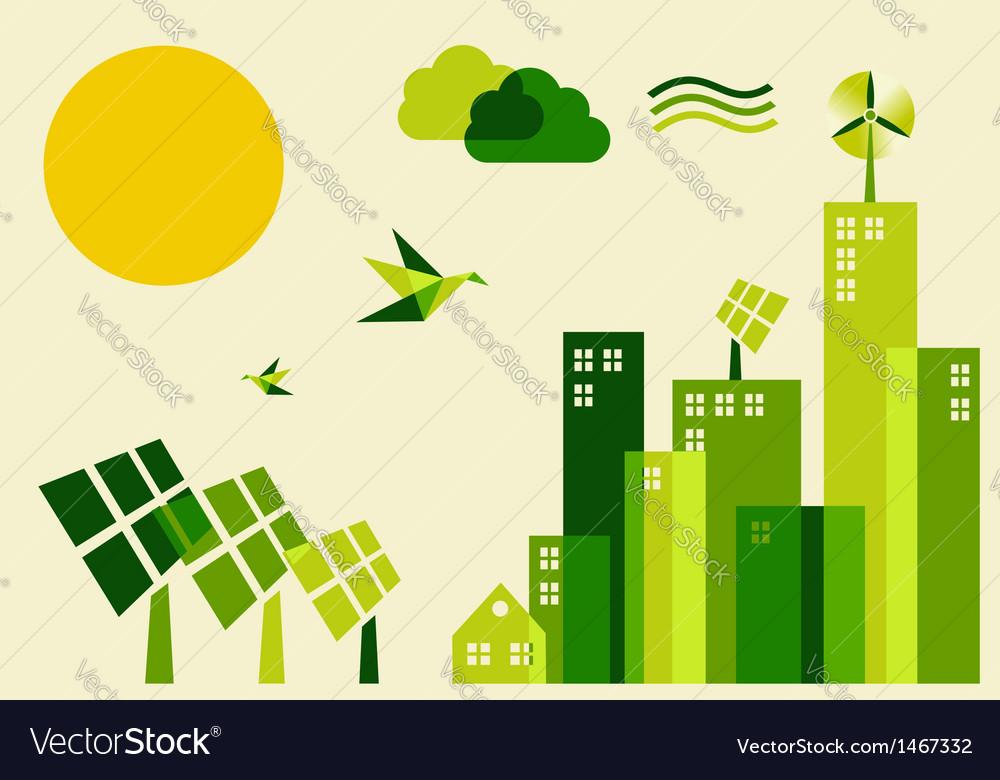 City sustainable development concept vector   Price: 1 Credit (USD $1)