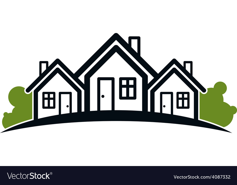 Colorful holiday houses vector
