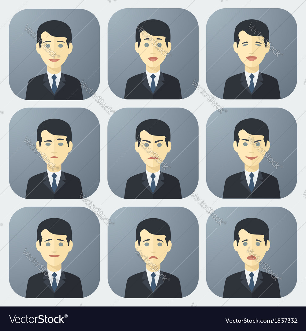 Emotions of businessman vector | Price: 1 Credit (USD $1)