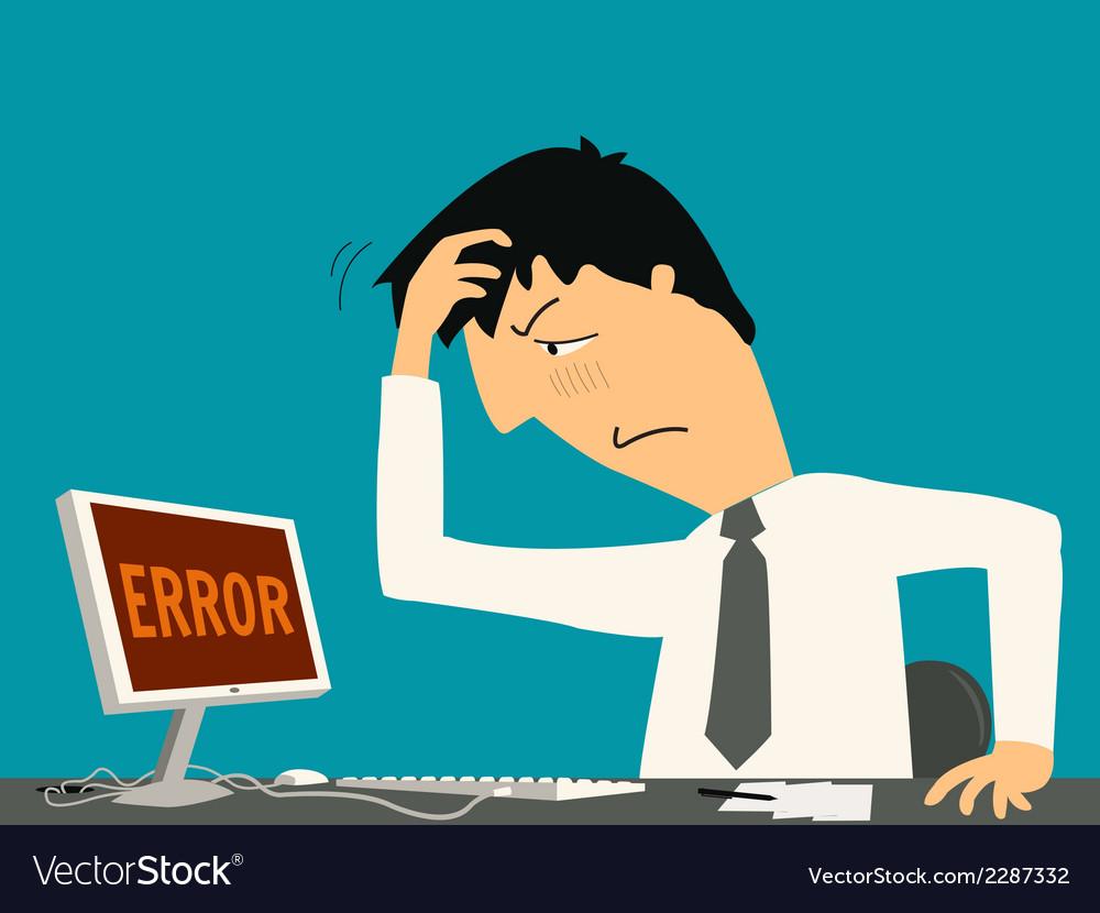 Errorbusiness vector | Price: 1 Credit (USD $1)