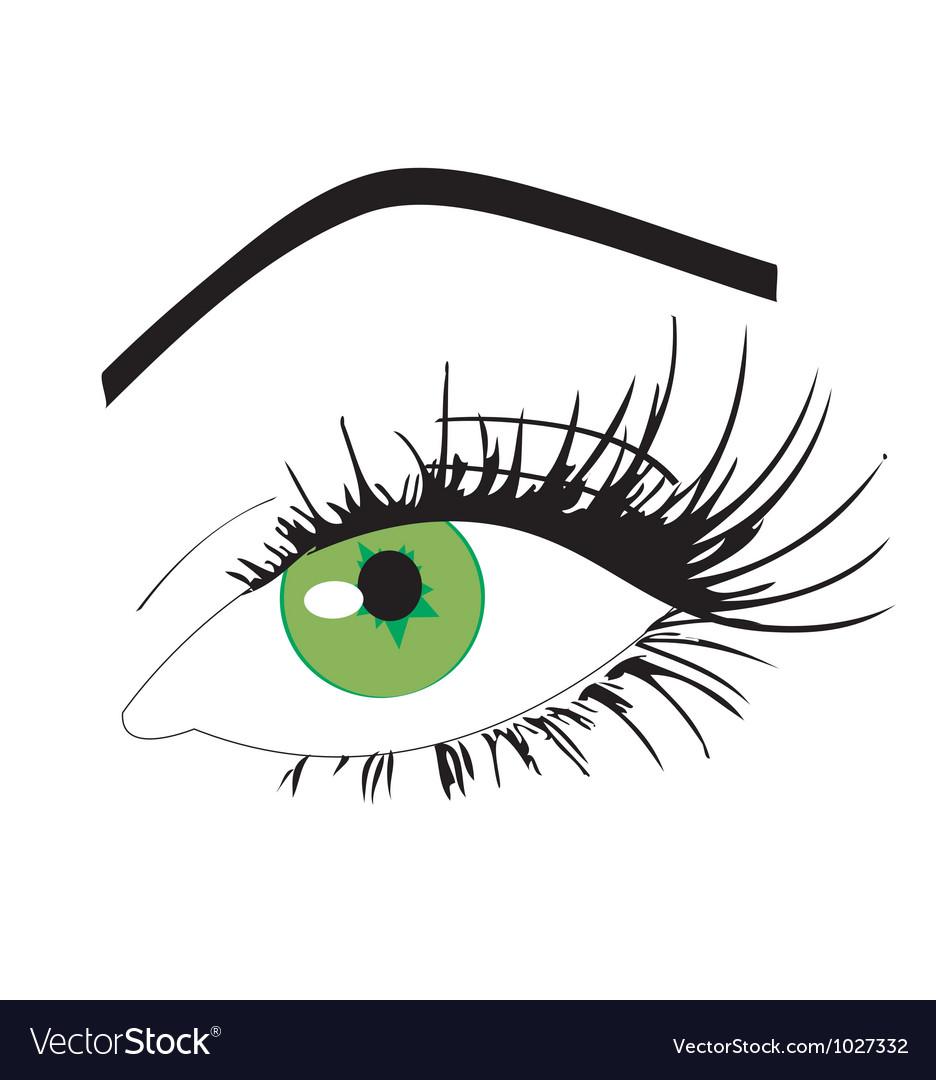 Feminine eye vector | Price: 1 Credit (USD $1)