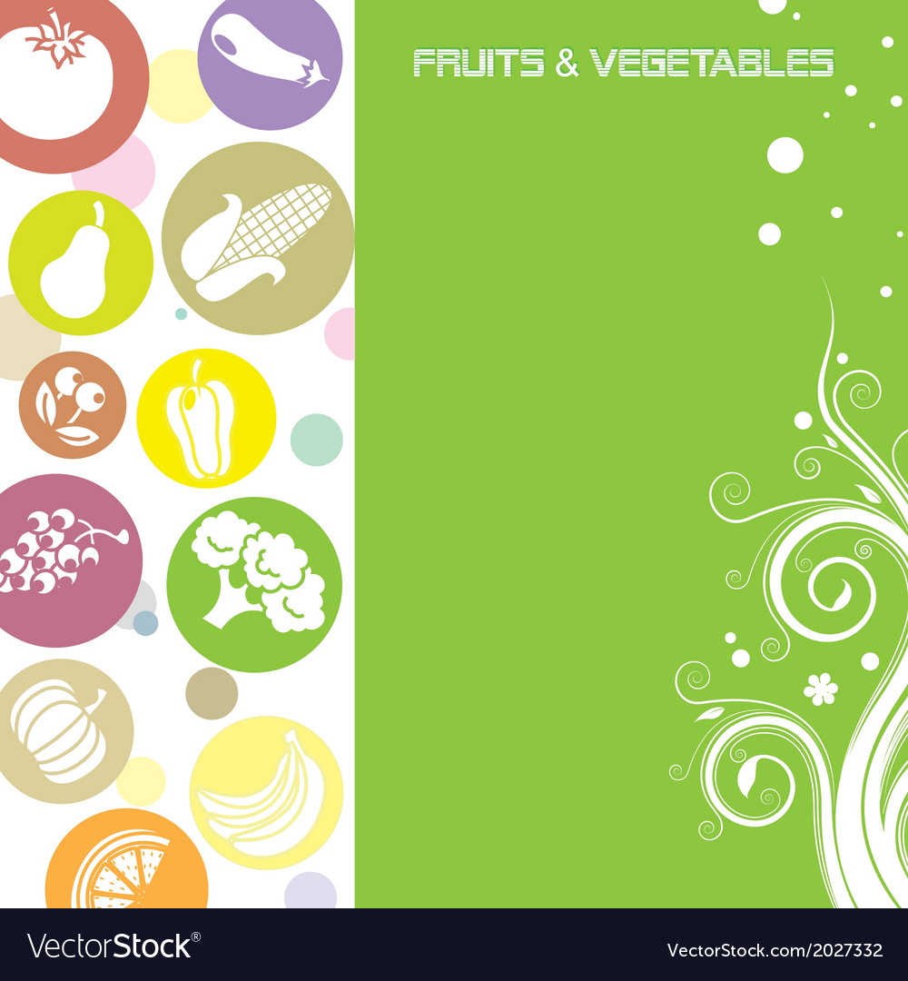 Fruit and vegetable card vector   Price: 1 Credit (USD $1)