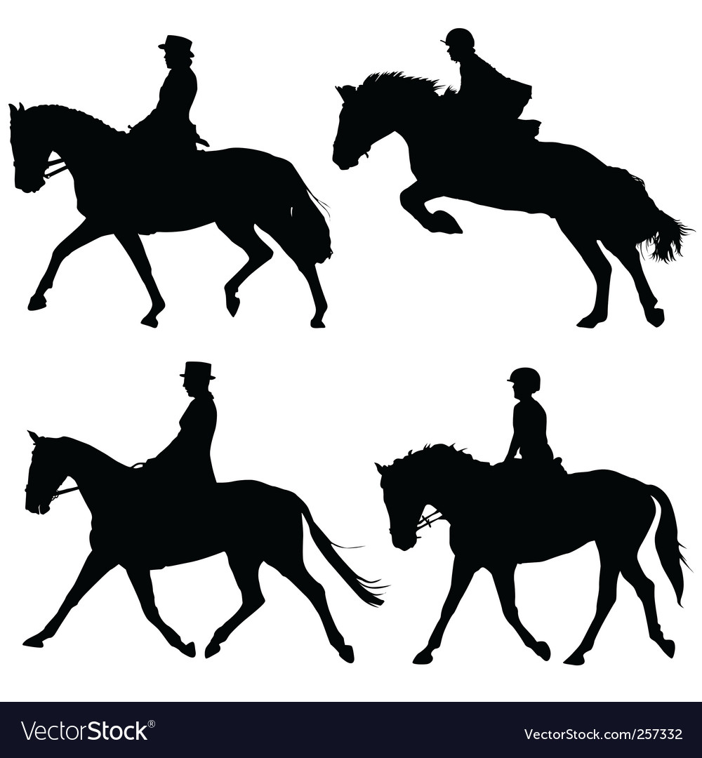 Horse and riders vector | Price: 1 Credit (USD $1)