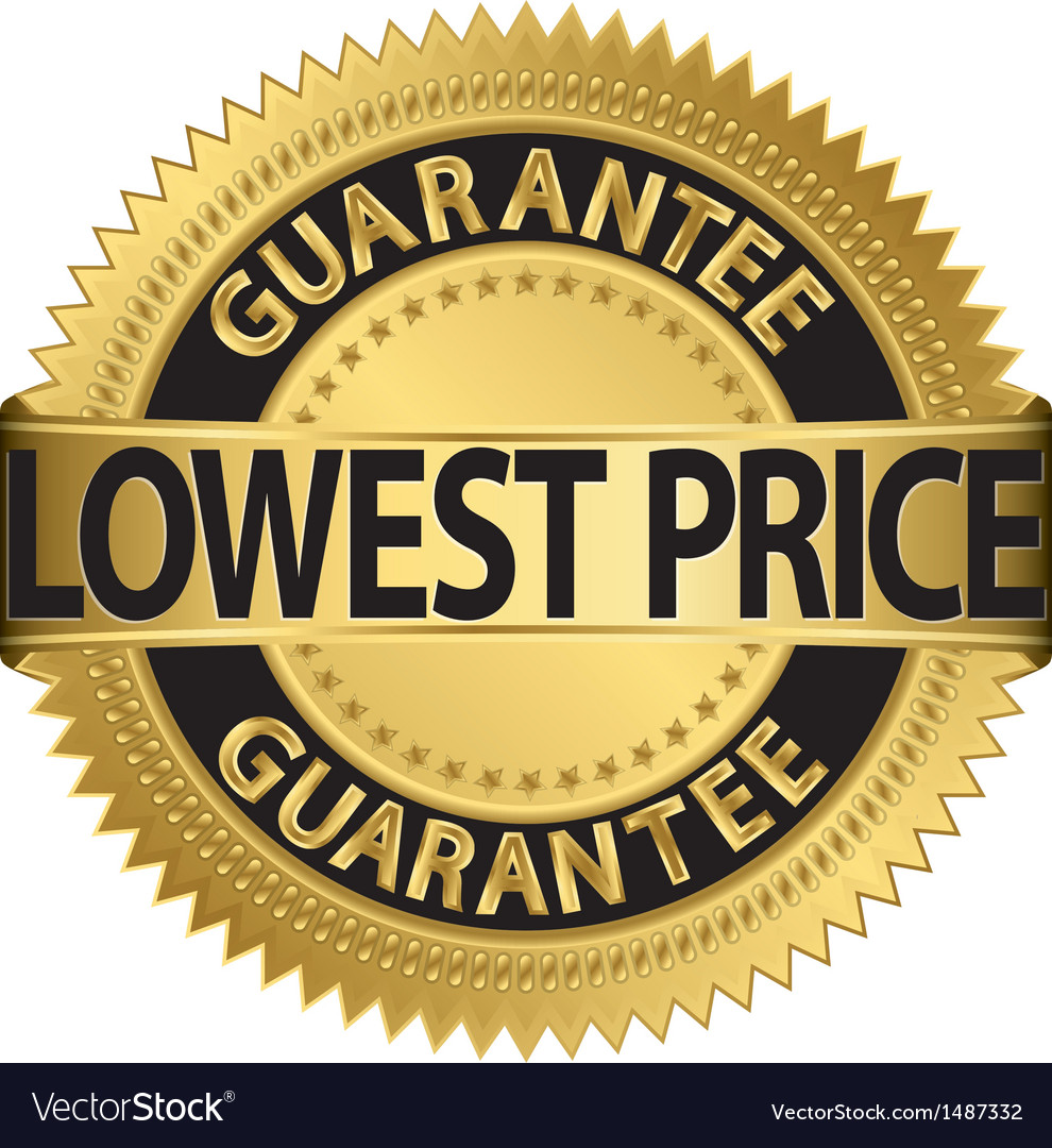 Lowest price guarantee gold label vector | Price: 1 Credit (USD $1)