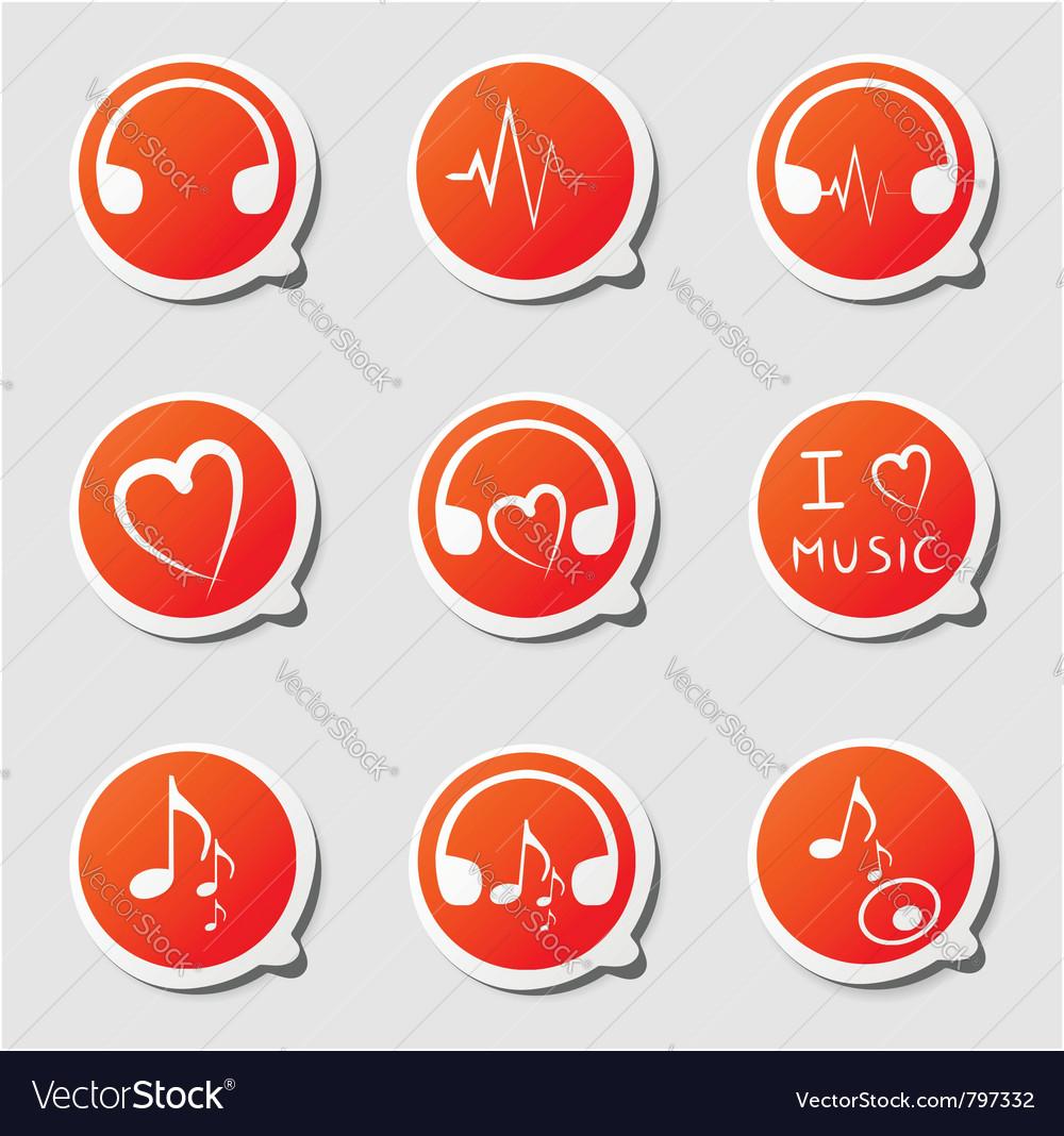Music theme icon vector | Price: 1 Credit (USD $1)