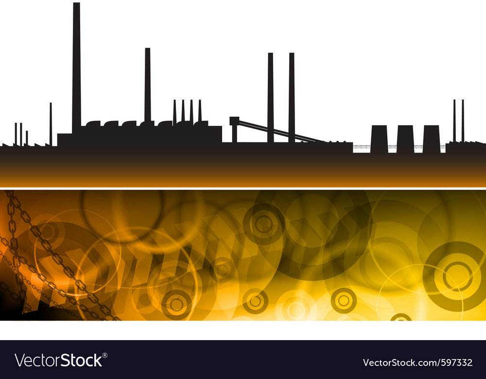Pollution factory vector | Price: 1 Credit (USD $1)