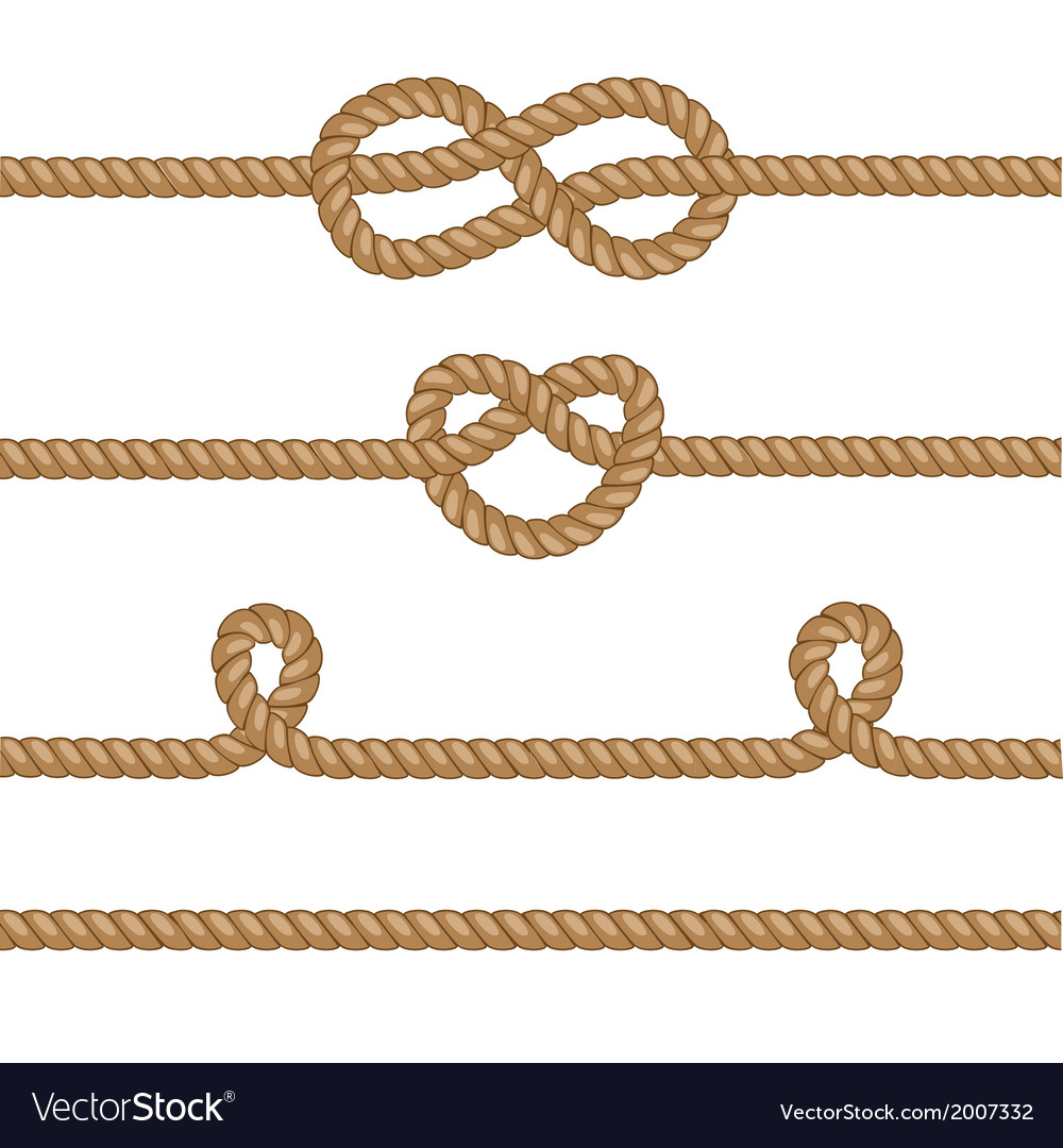 Set of ropes with knots vector | Price: 1 Credit (USD $1)