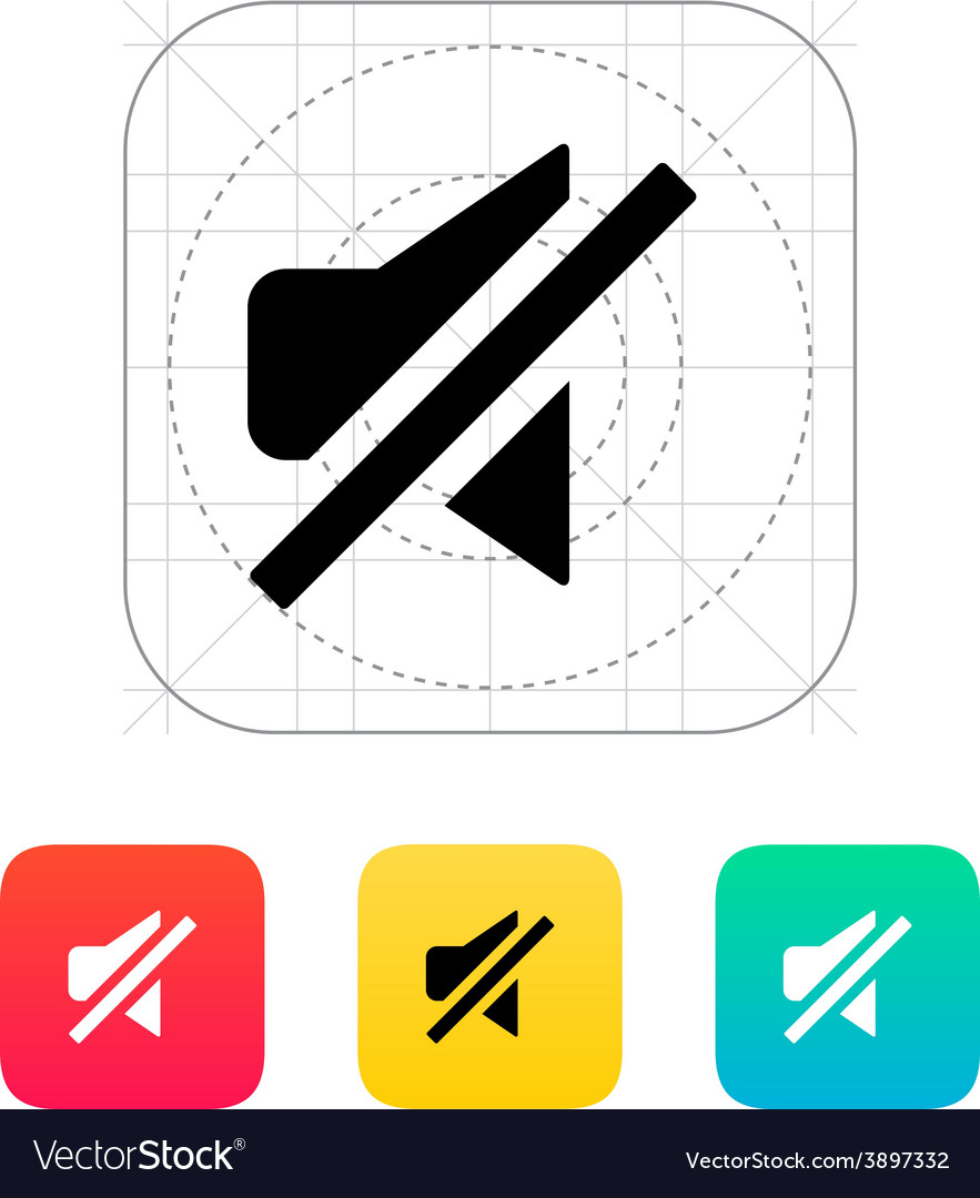 Turn off sound icon vector | Price: 1 Credit (USD $1)