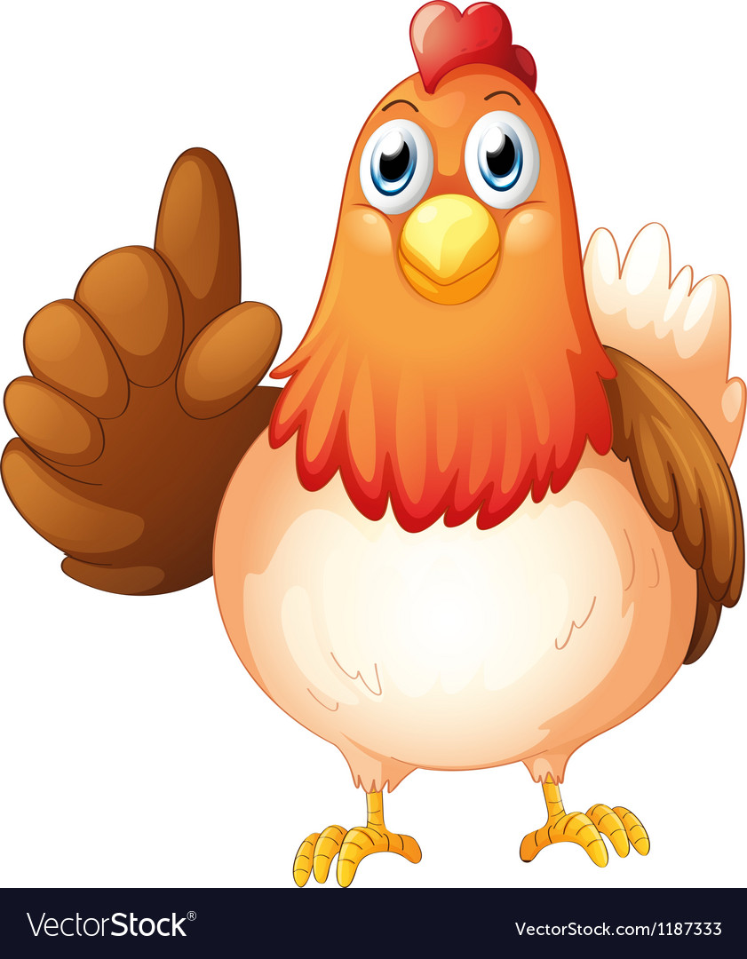 A hen vector | Price: 1 Credit (USD $1)