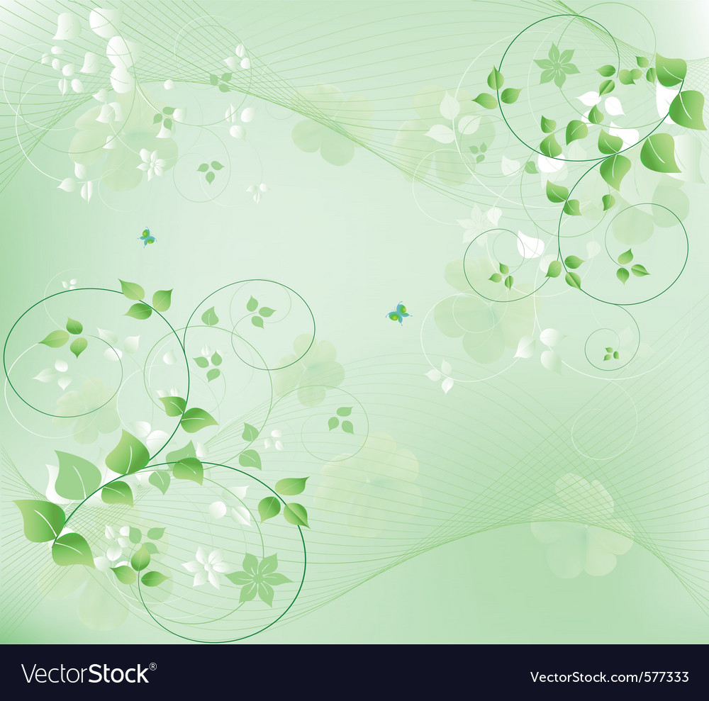 Abstract floral vector
