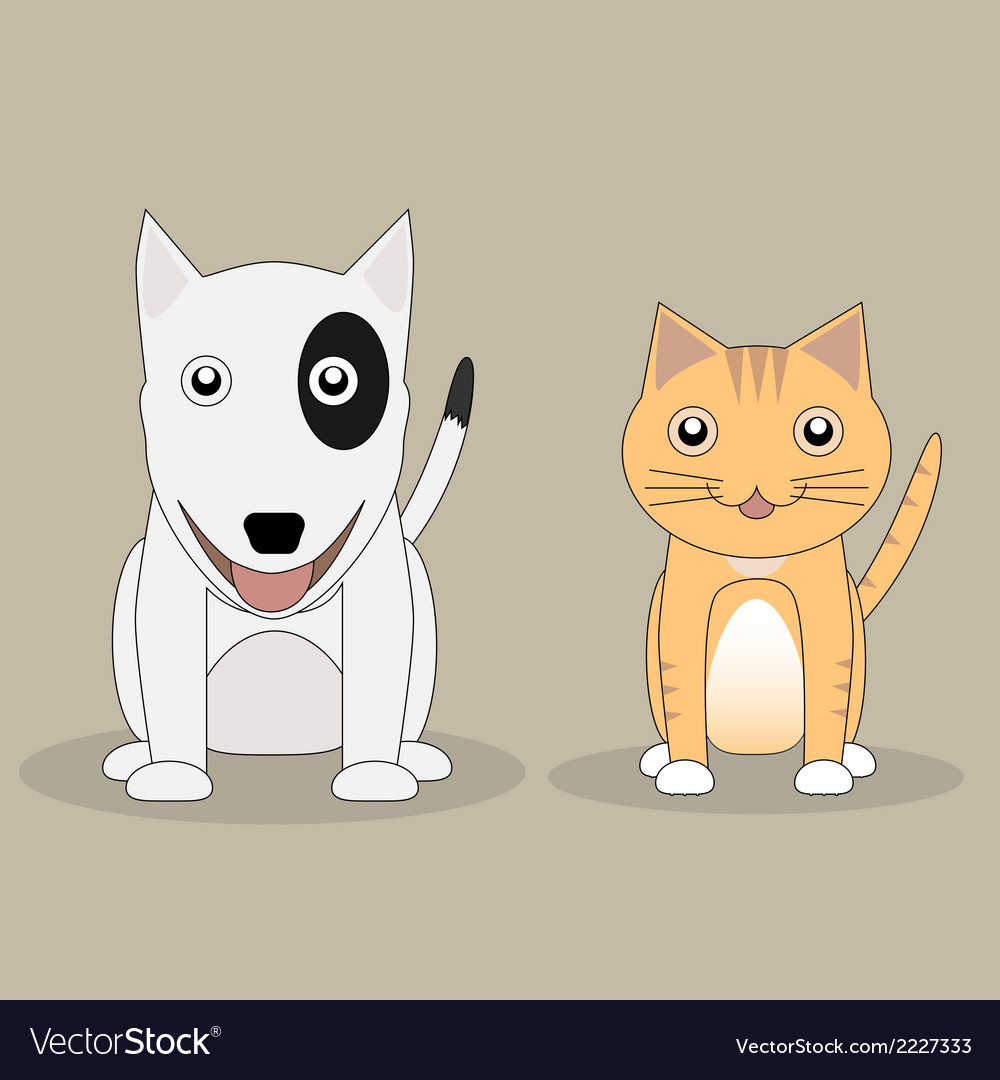 Cat and dog vector | Price: 1 Credit (USD $1)