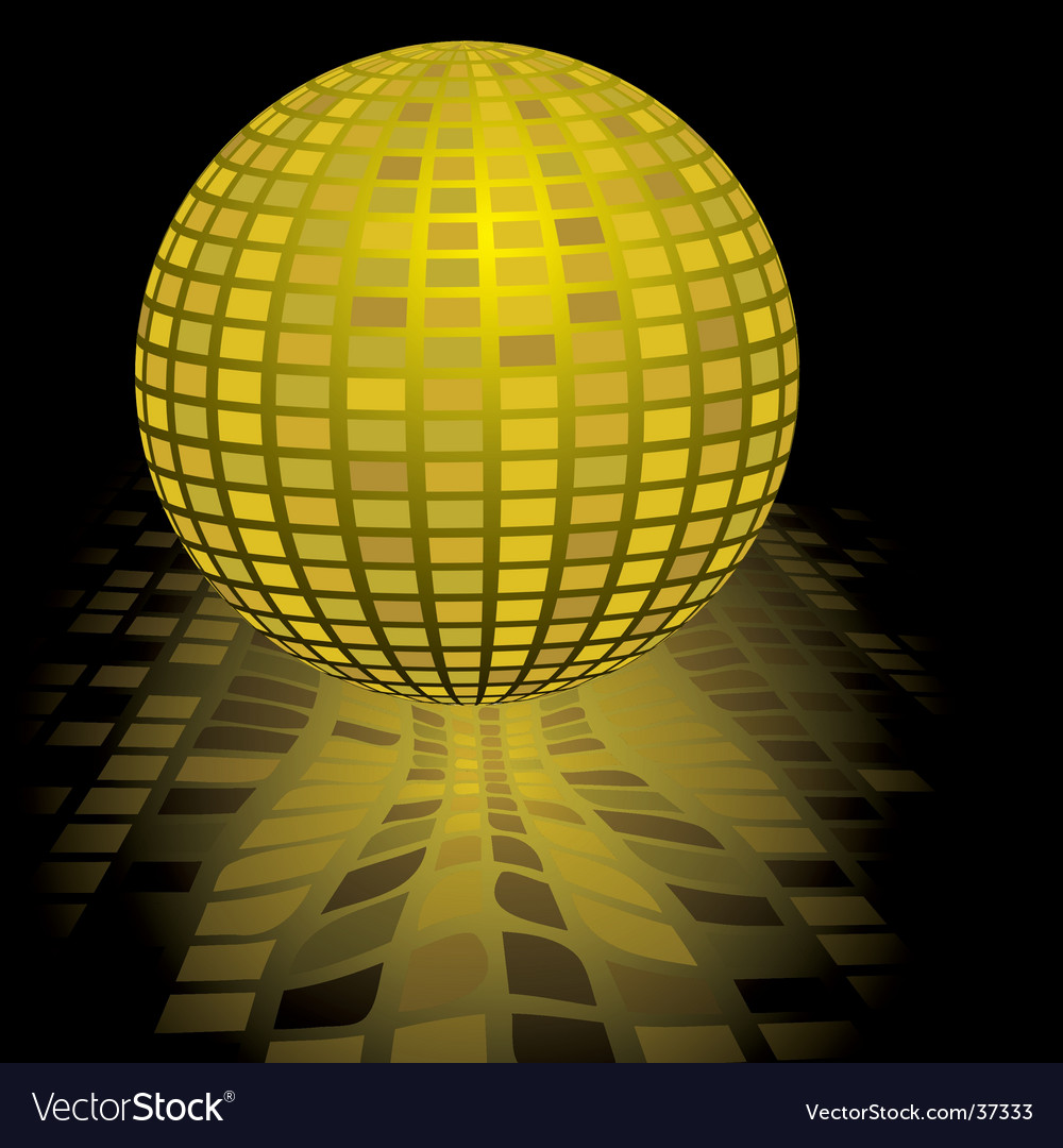 Disco ball gold vector | Price: 1 Credit (USD $1)