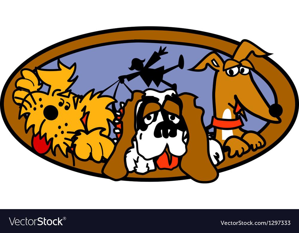 Dog walk vector | Price: 1 Credit (USD $1)