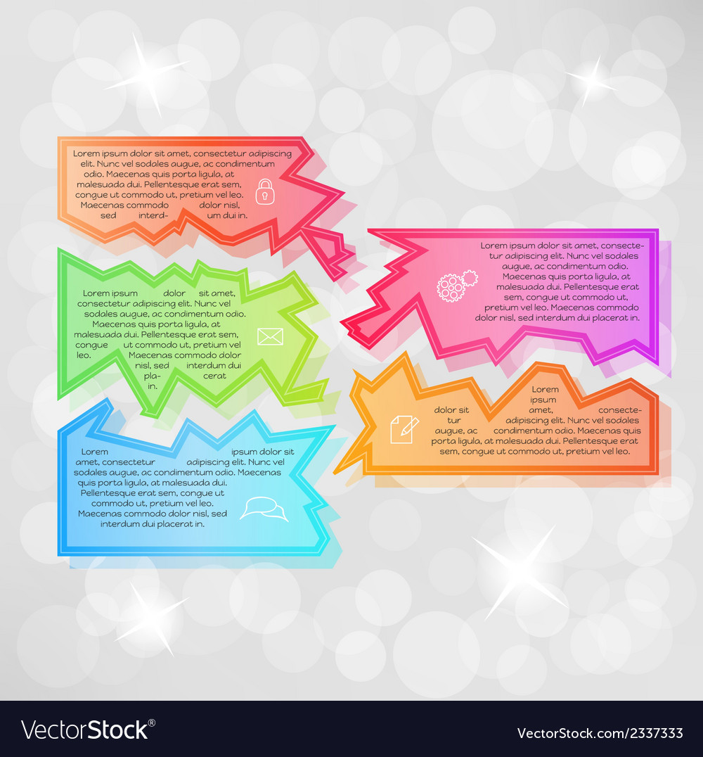 Infographic with fragments vector   Price: 1 Credit (USD $1)