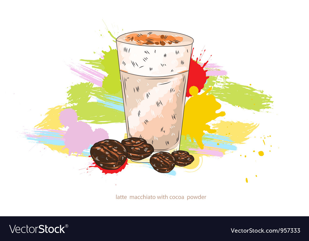 Latte macchiato vector | Price: 1 Credit (USD $1)