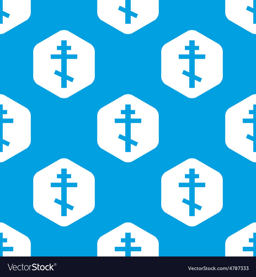 Orthodox cross hexagon pattern vector | Price: 1 Credit (USD $1)