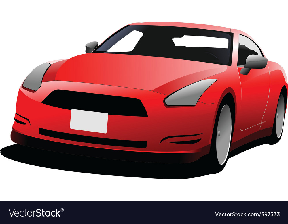 Red coupe car vector | Price: 1 Credit (USD $1)