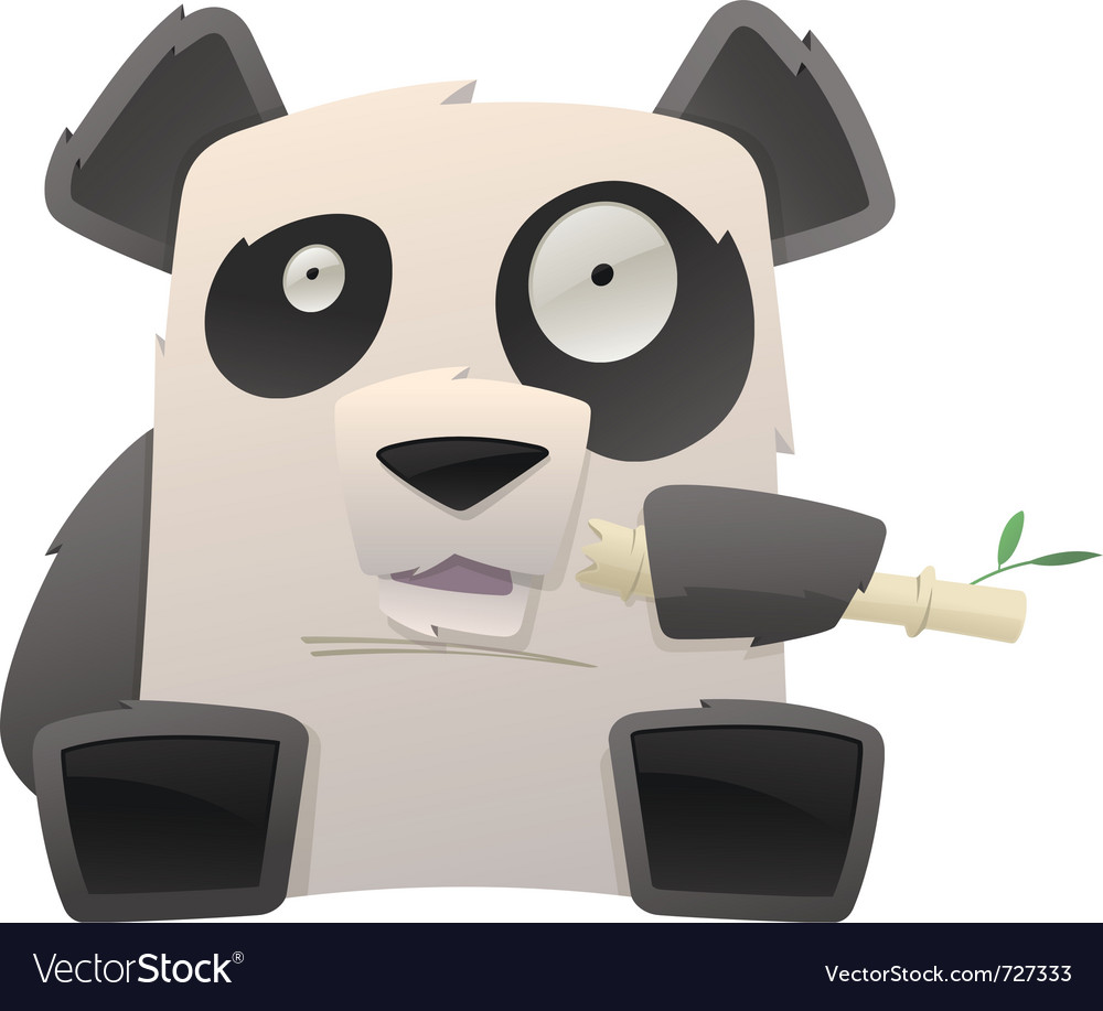 Strange panda vector | Price: 3 Credit (USD $3)