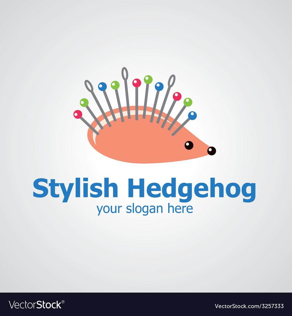 Stylish hedgehog vector | Price: 1 Credit (USD $1)