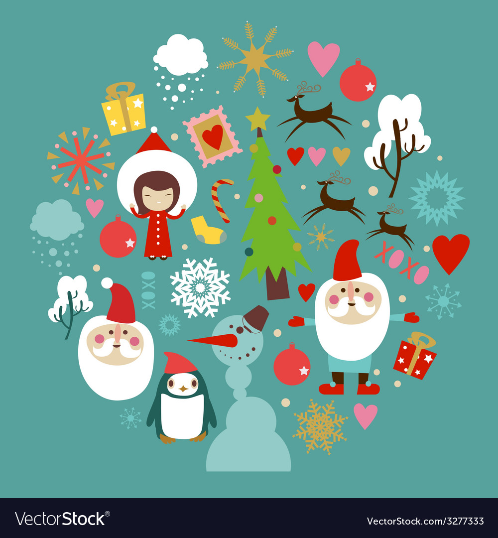 Winter holidays celebration design vector | Price: 1 Credit (USD $1)