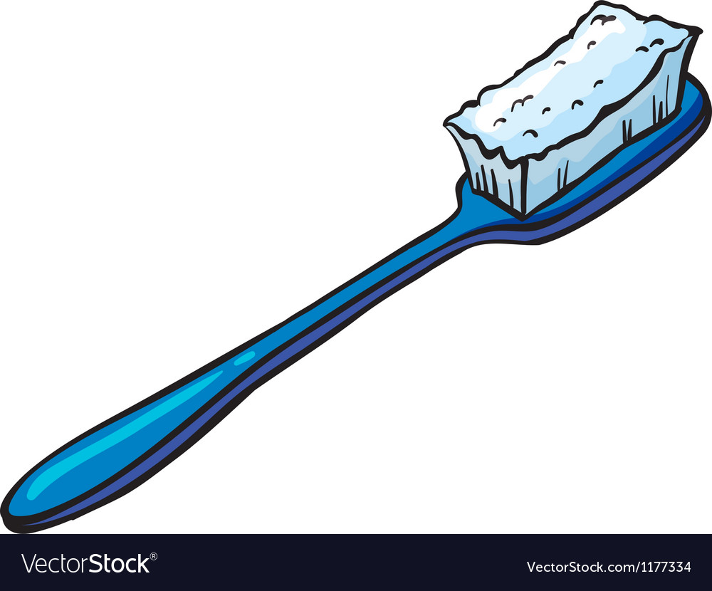 Blue toothbrush vector | Price: 1 Credit (USD $1)