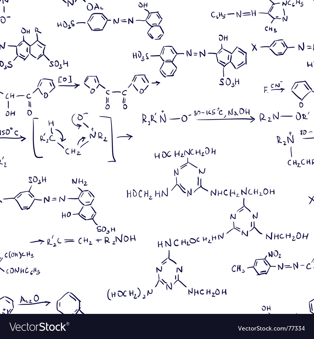 Chemistry formulas seamless vector | Price: 1 Credit (USD $1)