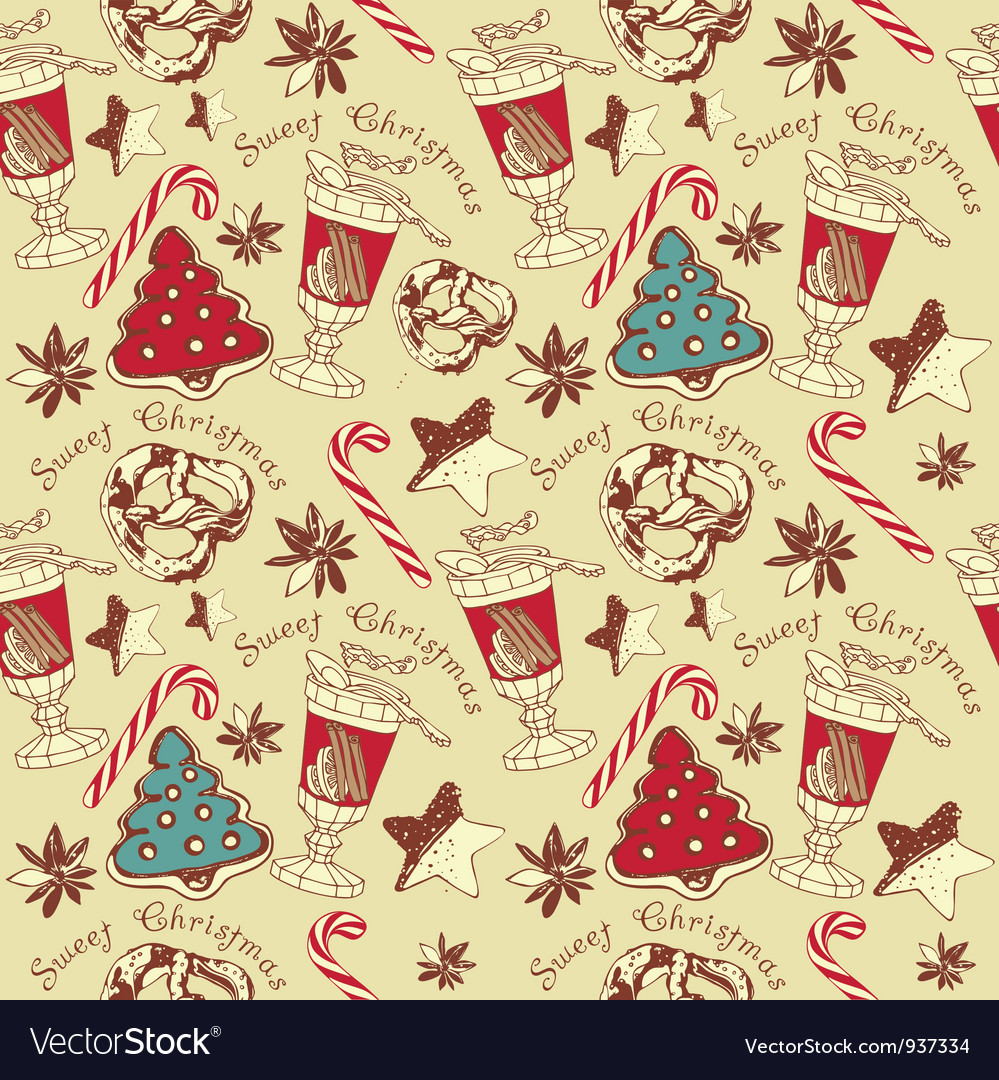 Christmas confectionery pattern vector | Price: 1 Credit (USD $1)