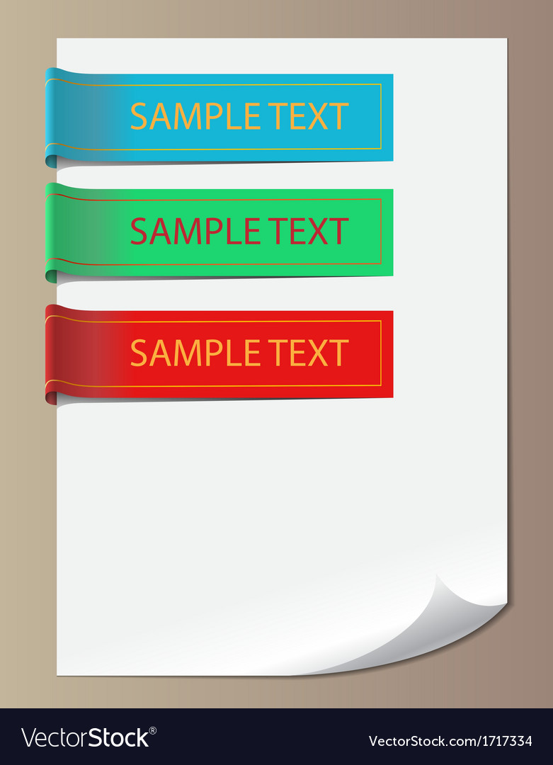 Color bookmarks ribbons vector | Price: 1 Credit (USD $1)