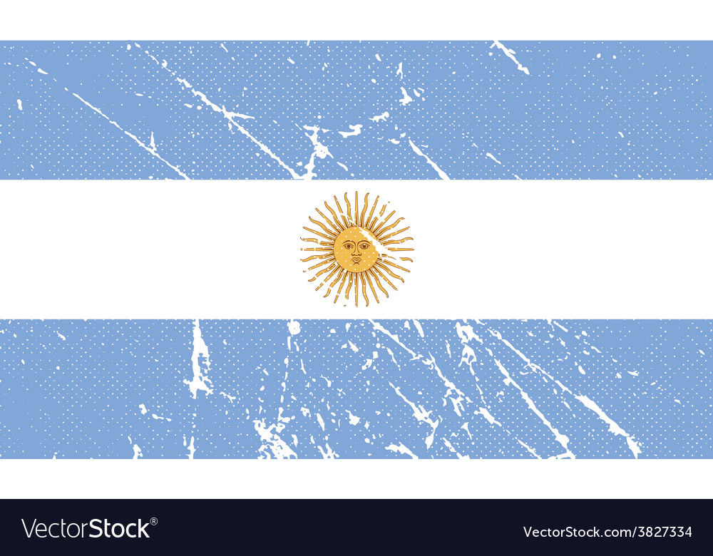 Flag of argentina with old texture vector   Price: 1 Credit (USD $1)
