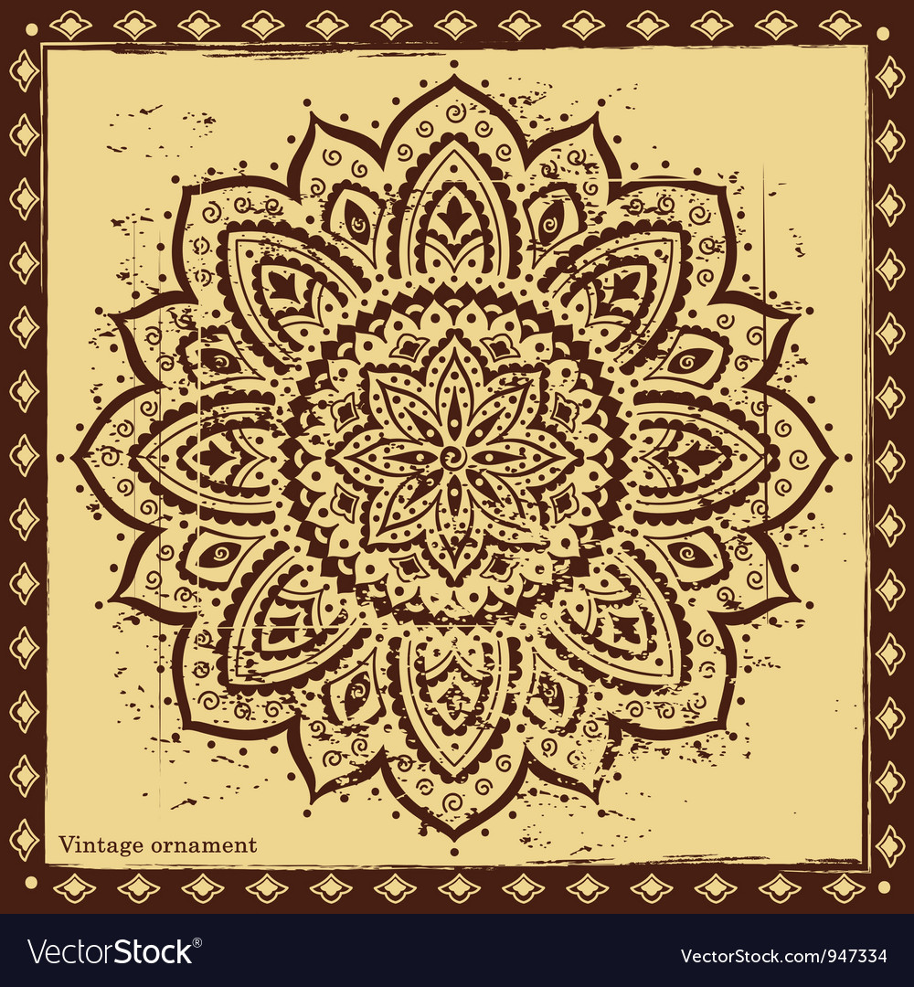 Indian ornament vector | Price: 1 Credit (USD $1)