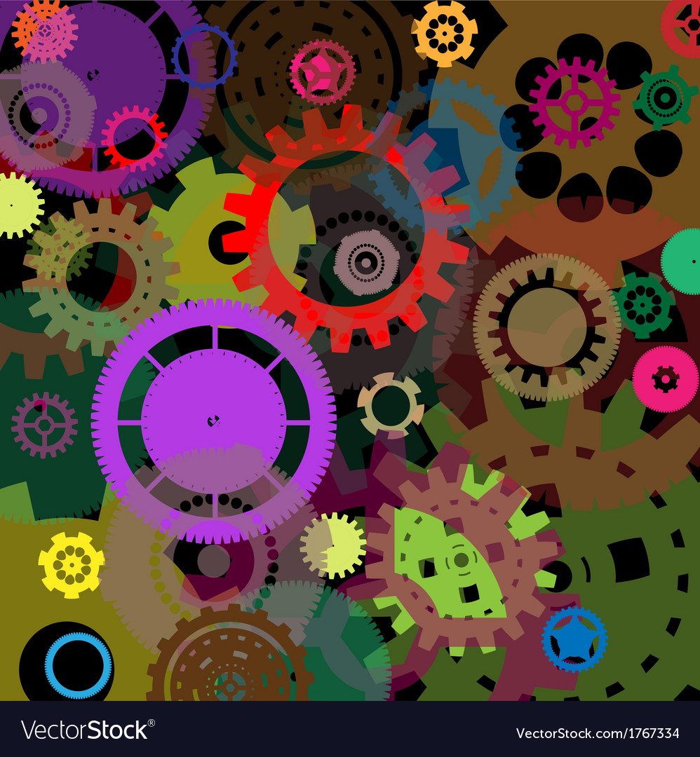 Industrial colorful background design vector | Price: 1 Credit (USD $1)